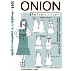 Strop/empirekjole onion snitmønster
