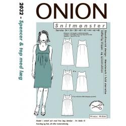 Spencer & Top m/læg onion snitmønster