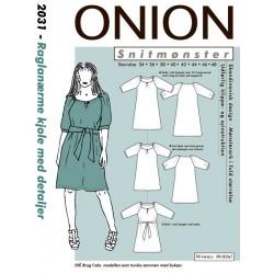 Kjole med raglanærmer onion snitmønster 2031