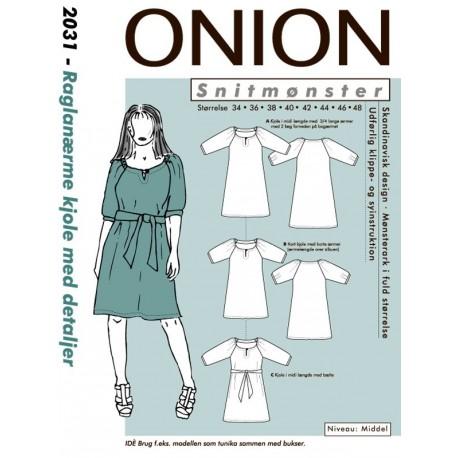 13c6bcfa692f Kjole med raglanærmer onion snitmønster 2031