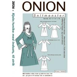 Kjole/tunika m/indsats onion snitmønster