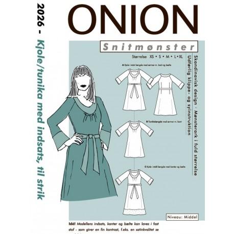 Kjole tunika med indsats onion snitmønster 2026