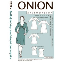 Strikkjole/top m/drejet bærestykke onion snitmønster