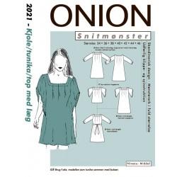 Kjole/top/tunika m/læg onion snitmønster