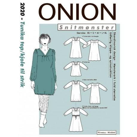 Tunika top kjole onion snitmønster 2020