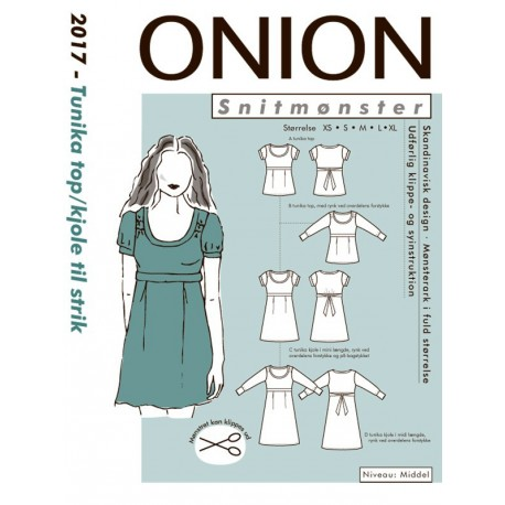 Tunika kjole top onion snitmønster 2017