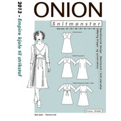 Empire kjole onion snitmønster 2013