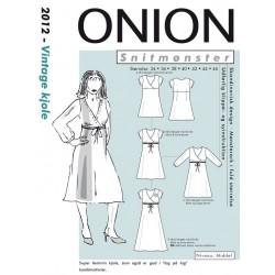 Vintage kjole onion snitmønster