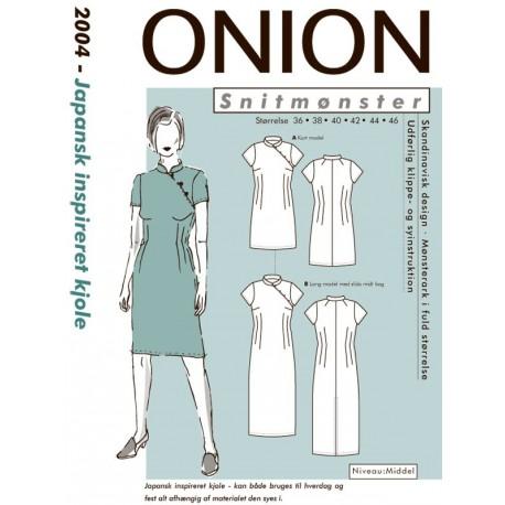 Japansk inspireret kjole onion snitmønster 2004