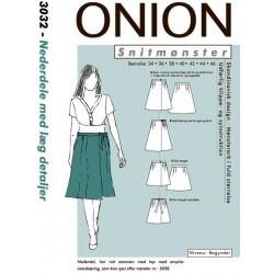 Nederdel med Læg Onion snitmønster 3032
