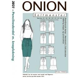 Pencilnederdel m/knaplukning onino snitmønster 3031