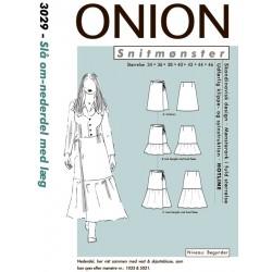 Slå om nederdel med læg onion snitmønster 3029