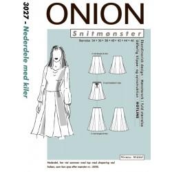 Nederdel med kiler onion snitmønster 3027