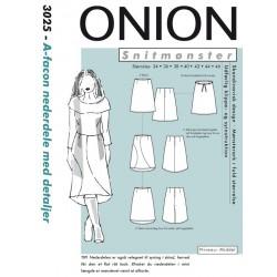 Nederdel A-facon onion snitmønster 3025