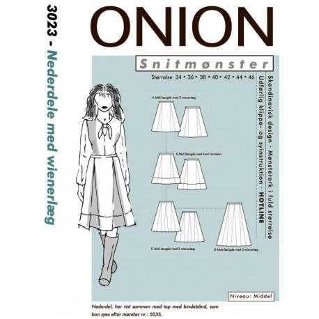 Nederdel med Wienerlæg onion snitmønster 3023