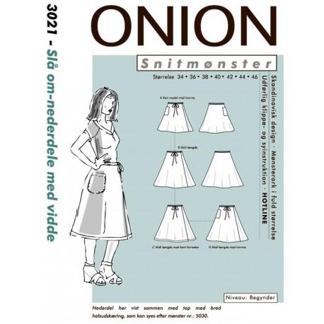 Slå om nederdel m/vidde onion snitmønster 3021