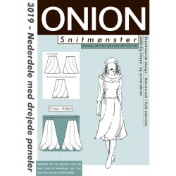 Nederdel m/drejede paneler onion snitmønster 3019
