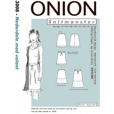 Nederdel med volant onion snitmønster 3008