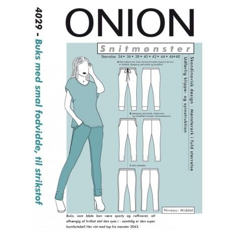 Bukser msmal fodvidde onion snitmønster