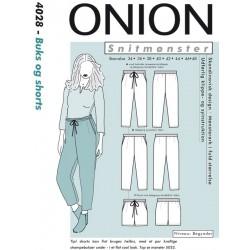 Bukser & shorts onion snitmønster 4028
