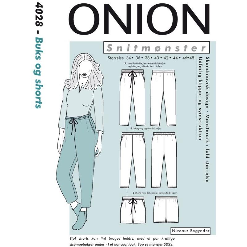 Bukser & shorts onion snitmønster