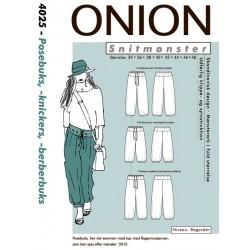 Knickers og berberbuks onion snitmønster 4025
