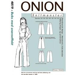Buks med snøre efekt onion snitmønster 4019