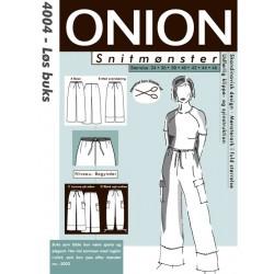 Løs buks onion snitmønster 4004