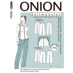 Bukser onion snitmønster 4003