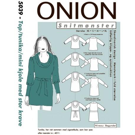 Tunika og kjole onion snitmønster