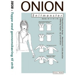Top/bluse onion snitmønster 5038