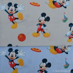 Mickey Mouse i 2 farver 100 % Bomuld