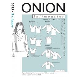 Toppe/bluser onion snitmønster 5035