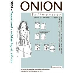 Top m/V-udskæring Onion snitmønster 5034