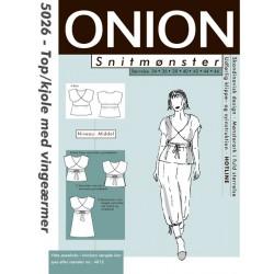 Top/kjole m/vingeærmer onion snitmønster 5026