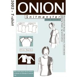 T-shirt m/ raglanærmer onion snitmønster 5003