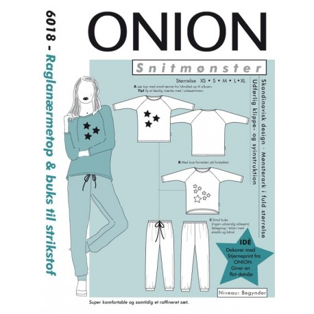 Top m/raglanærme & buks onion snitmønster 6018