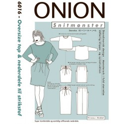 Oversize top & nederdel onion snitmønster 6016