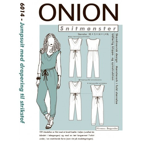 Jumpsuit m/draperinger Onion snitmønster 6014