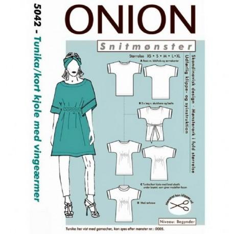 Tunika/ kort kjole onion snitmønster 5042