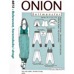 Bolerovest og haremsbuks onion snitmønster 6013