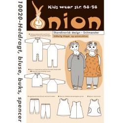 Heldragt, spencer , bukser og bluse onion snitmønster