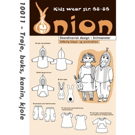 Trøje, bukser og kjole onion snitmønster 10011