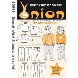 Sweat-shirt og bukser onion snitmønster 20049