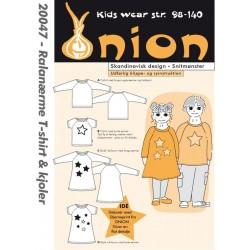 T-shirt m/raglanærme og kjole onion snitmønster 20047