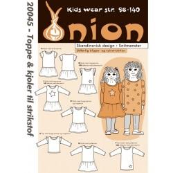 Top og kjole til strikstof onion snitmønster