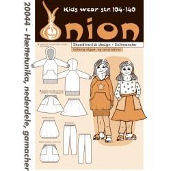 Hætte tunika, nederdel og gamacher onion snitmønster 20044