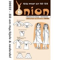 Slå om kjole/top og nederdel onion snitmønster 20032