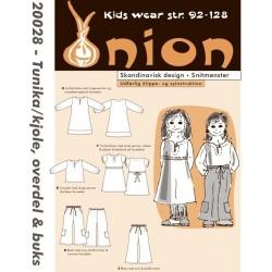 Tunika/kjole, overdel og bukser onion snitmønster