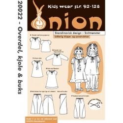 Kjole bukser og overdel onion snitmønster 20022